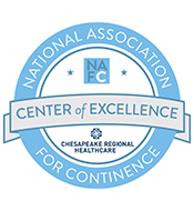 Center of Excellence Seal from the National Association for Continence