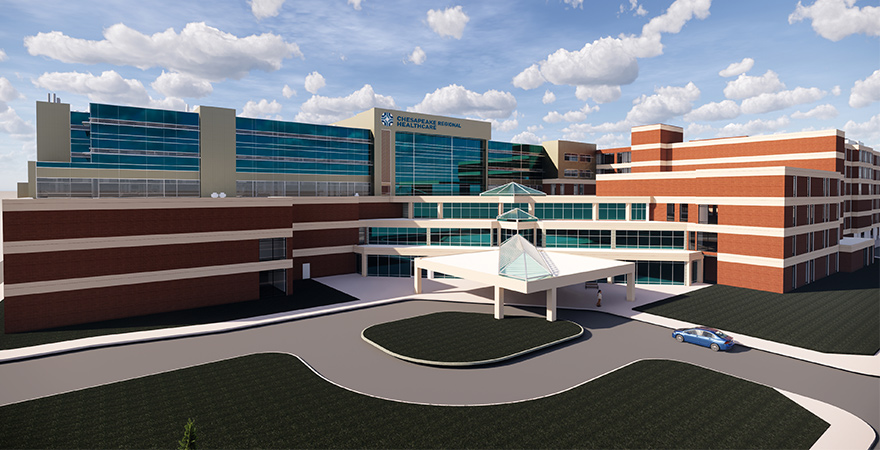 CRMC Critical Care Tower Rendering