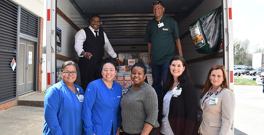 The Mount donating food to Chesapeake Regional Health Foundation